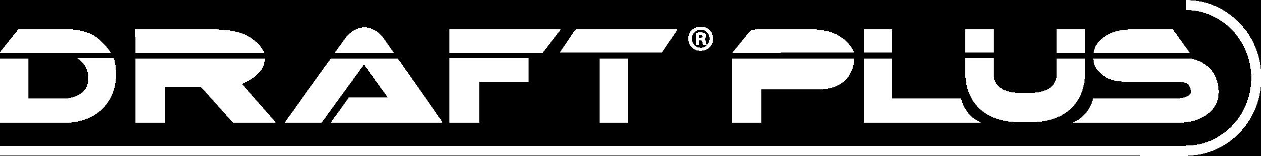 Draft Plus Logo_White-1